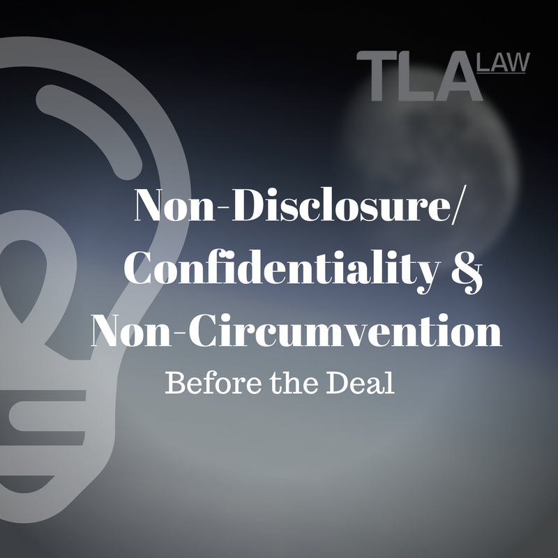 Non Disclosureconfidentiality Non Circumvention Agreements Before