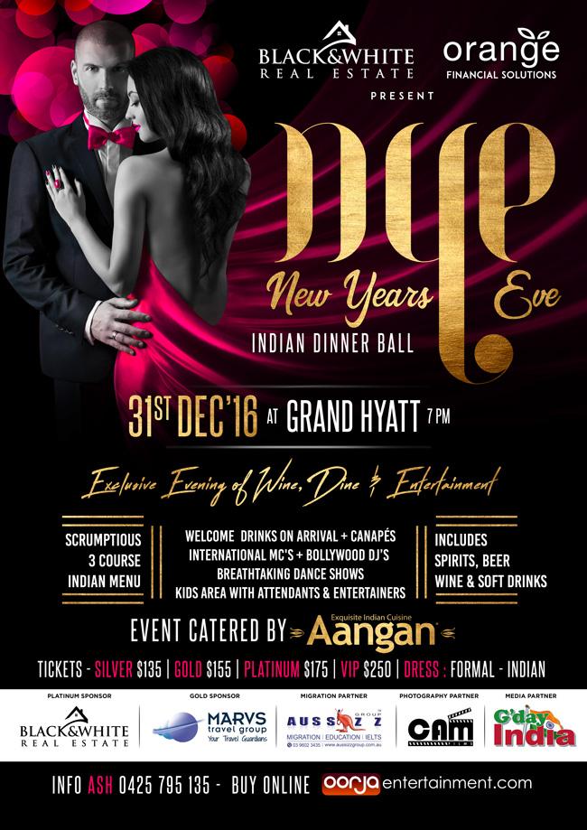 Sat, 31st Dec - Indian New Years Eve Dinner Ball @Grand Hyatt Melbourne