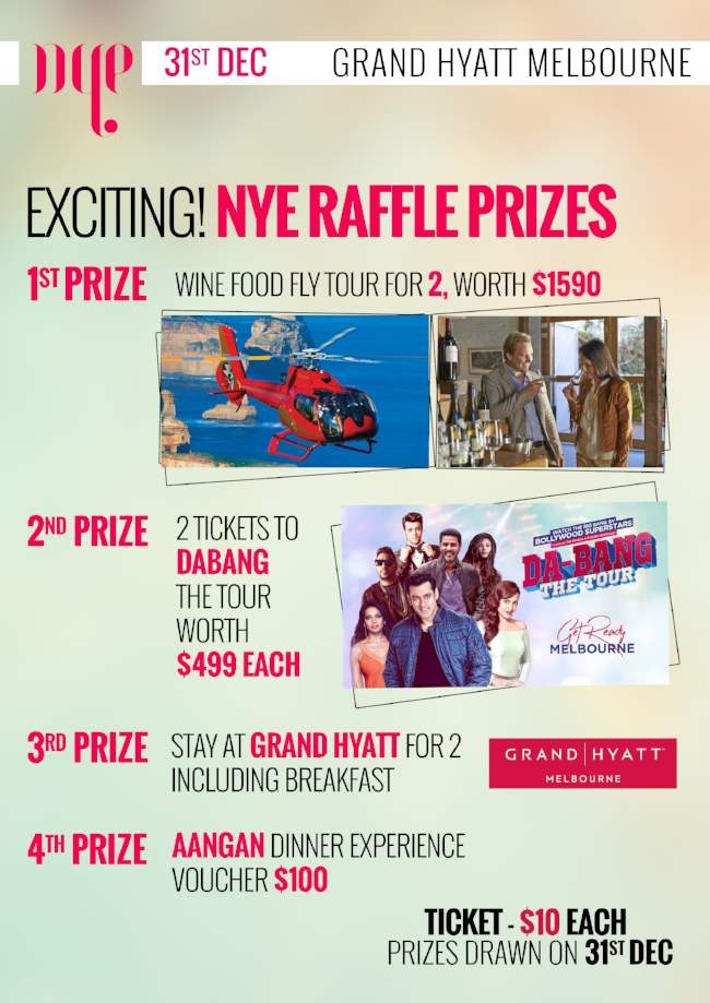 NEW YEARS EVE DINNER BALL - RAFFLE AT GRAND HYATT MELBOURNE