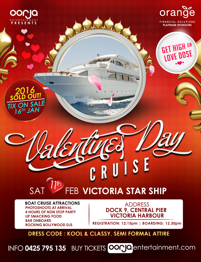 valentines day cruise oorja entertainment - Valentines Day Cruises