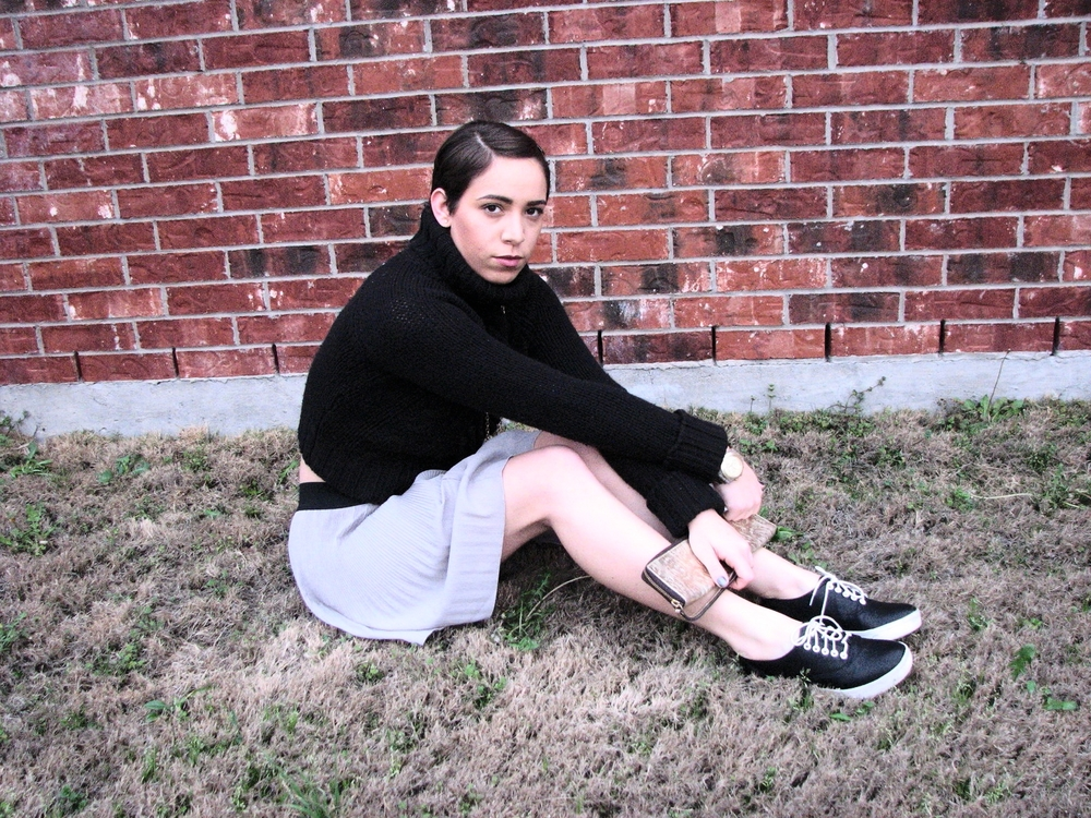 Vintage Knitted sweater and flared skirt - swatch gold watch - Lulus  sports shoes