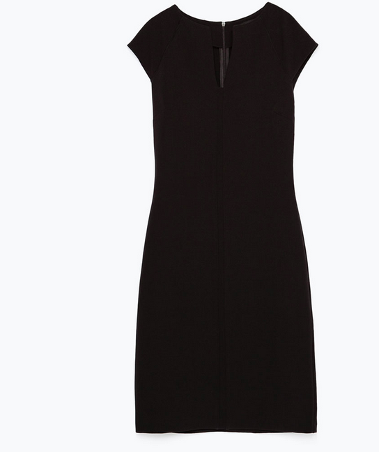 Zara Tube dress   http://www.zara.com/us/en/woman/dresses/tube-dress-with-raglan-sleeves-c358003p2776052.html