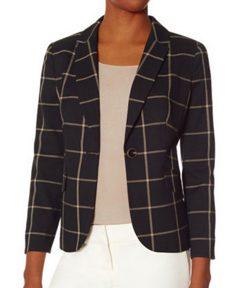 The Limited  http://www.thelimited.com/product/check-blazer/2446778.html?ppid=s4&start=4&q=blazer&dwvar_2446778_colorCode=150&srule=search-relevance