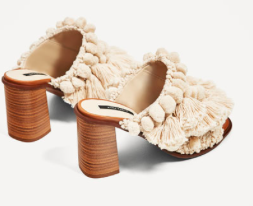 Zara HIGH HEEL MULES WITH POMPOMS 89.90