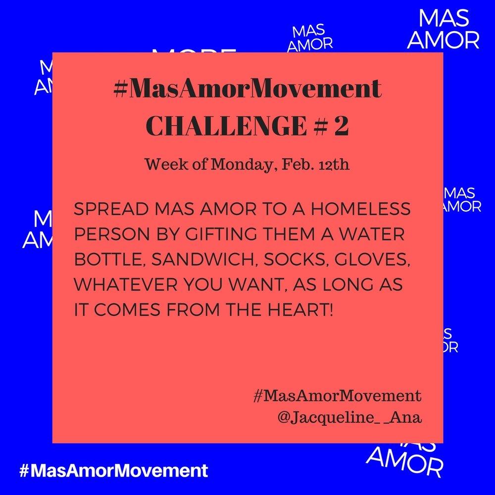 Love Challenge Mas Amor Movement