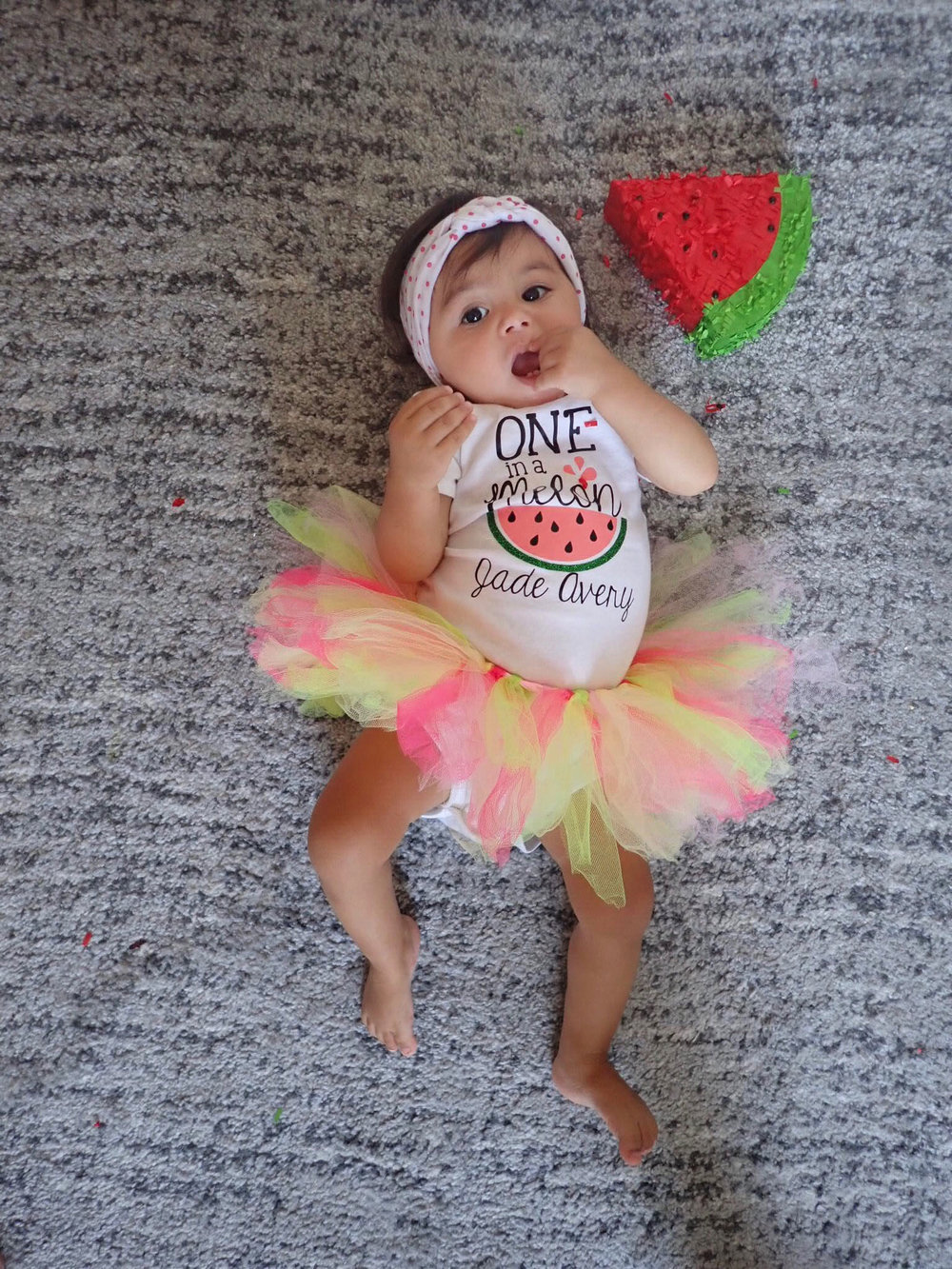 One In Melon birthday outfit