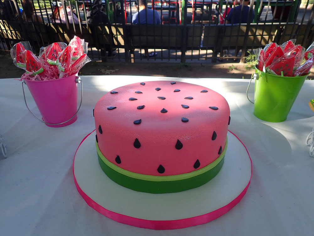 One In Melon Birthday cake