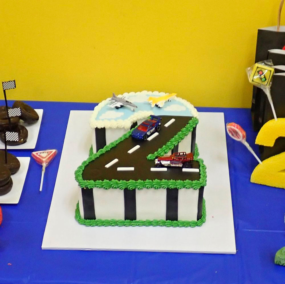 Racetrack 2nd birthday cake