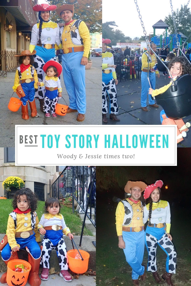 Toy Story Family Halloween Costumes | Toy Story Halloween Costumes | Woody and Jessie Halloween Costumes | Woody and Jessie Family Halloween Costumes | Family Halloween Costumes | Creative Family Halloween Costumes | Family of Four Halloween Costumes | Toy Story Costumes | Toy Story Birthday Outfit | www.AnaJacqueline.com