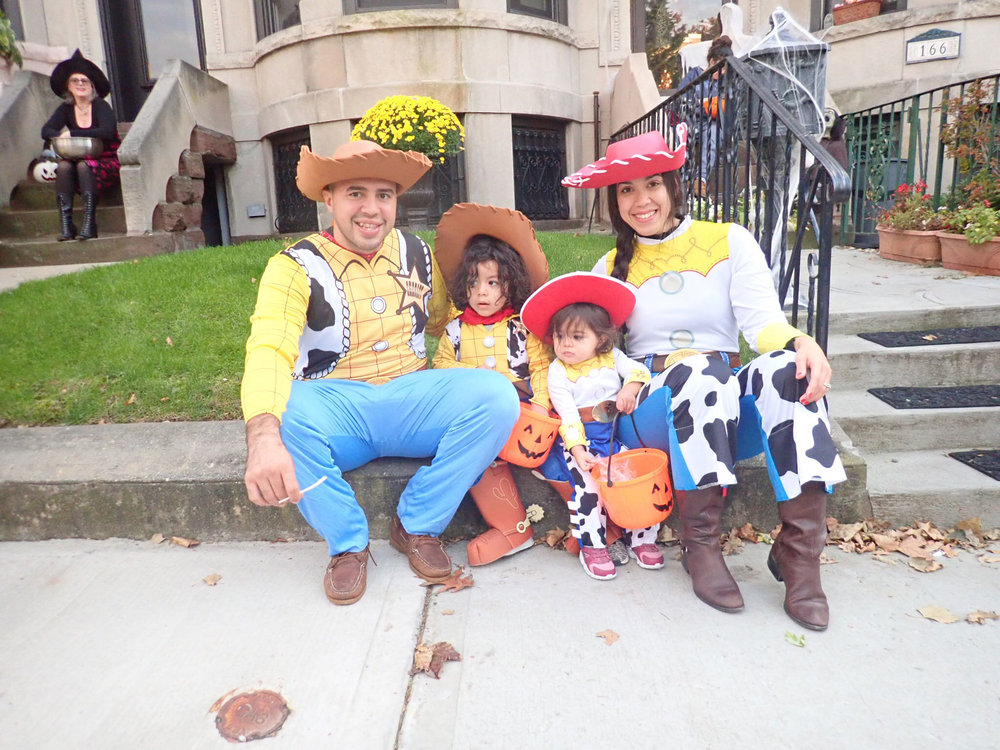 Woody and Jessie Family Halloween Costumes