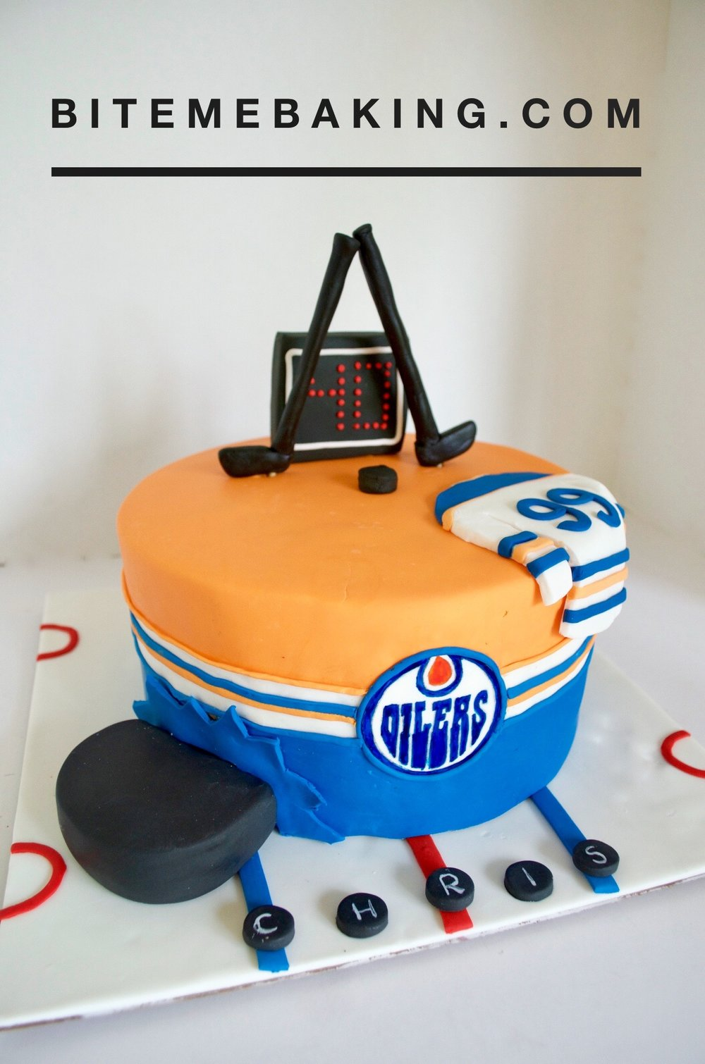 NHL Hockey Cake