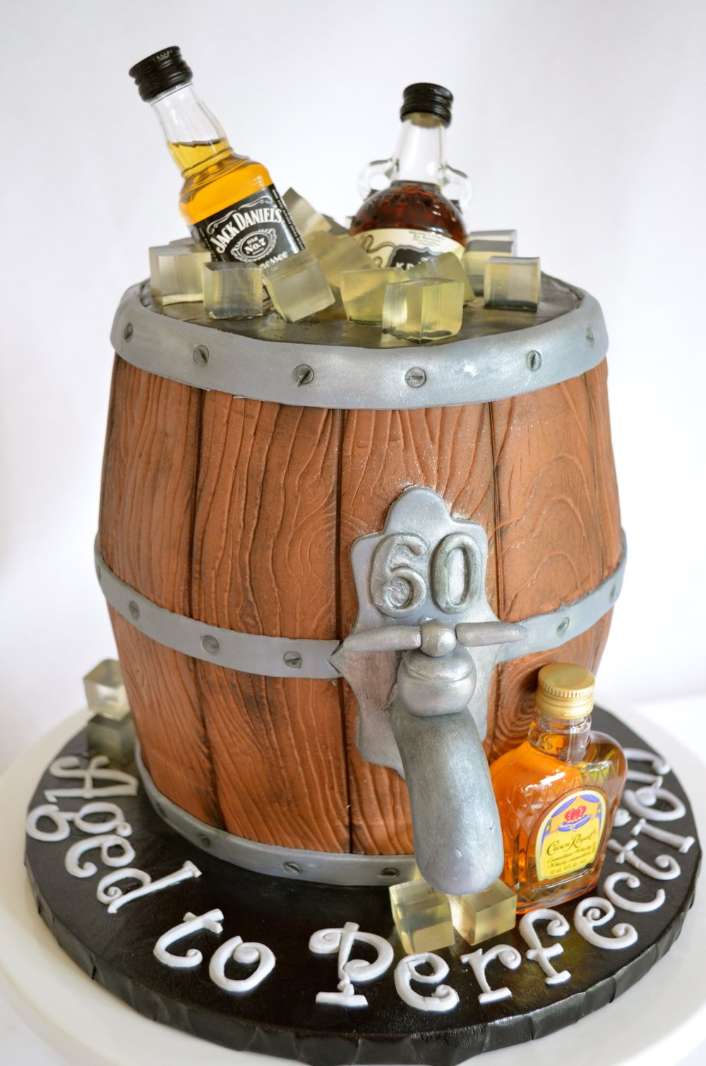 Whiskey Barrel Cake