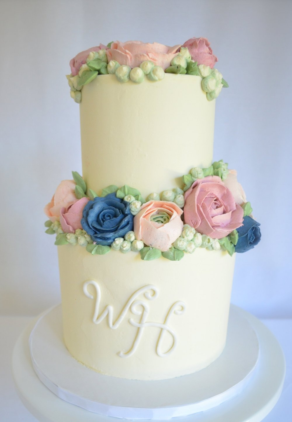 Beautiful buttercream, add a tinted white chocolate drip for extra yum!