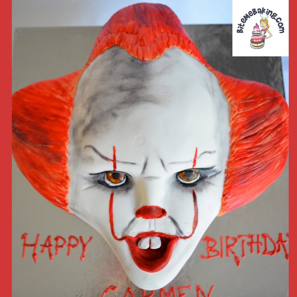 Pennywise from IT cake