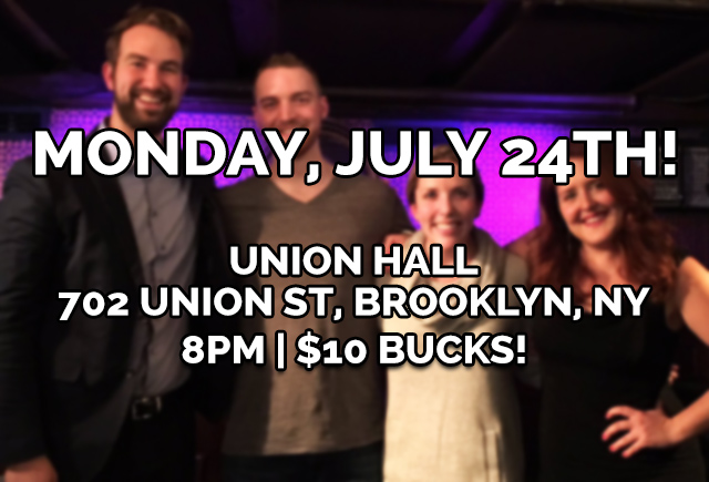 YOUR LOVE, BK! - Your Love, Our Musical is returning to Union Hall, July 24th at 8PM. Tix are $10 Click below!