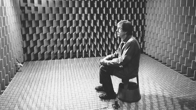 "John Cage famously sat in Harvard's anechoic chamber for a period of time and emerged with a striking observation: ""I heard two sounds, one high and one low. When I described them to the engineer in charge, he informed me that the high one was my nervous system in operation, the low one my blood in circulation."" JC's conclusion was that there could therefore be no such thing as silence. As long as we live, a fundamental, background hum, pervades our experience. -Ann Hedonia"