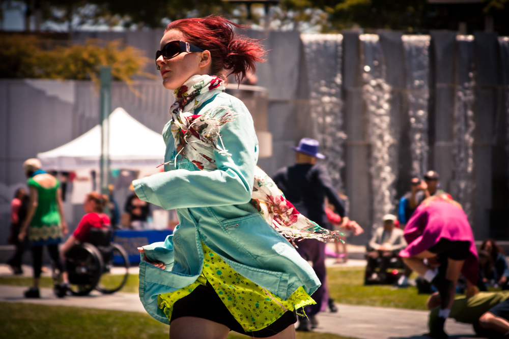 IMAGE - The artist performing at Yerba Buena Center for Art, San Francisco. Image courtesy AXIS Dance.