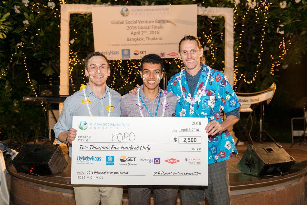 Priya Haji Memorial Award/Challenger Round: KOPO (USA)