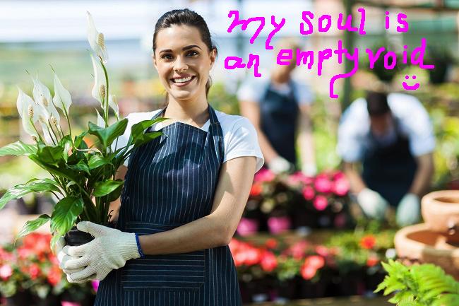 Garden sales lady