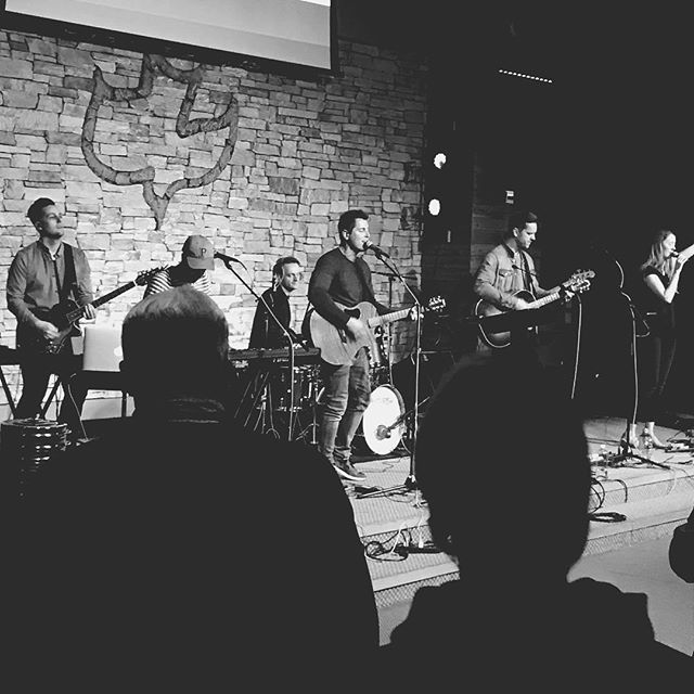 Last night was a special night at the #cgnmissions conference. Drew has played at these conferences with @craftybacon over the years and it's so cool to hear the stories from all over the globe and what God is doing. Last night @jeremycampofficial shared some of his stories and led worship.  What a powerful night!