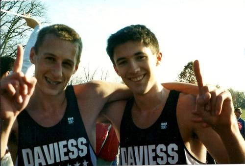 Yeck and I after winning our second consecutive team state cross country title