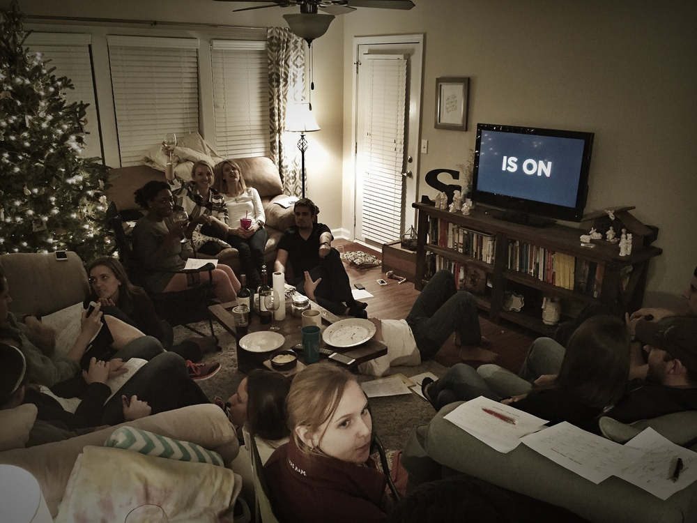 The Bachelor premier viewing party for farmer Chris's season.