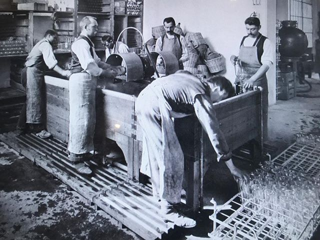 We loved seeing pictures of the original Campari bottling line in Milan.