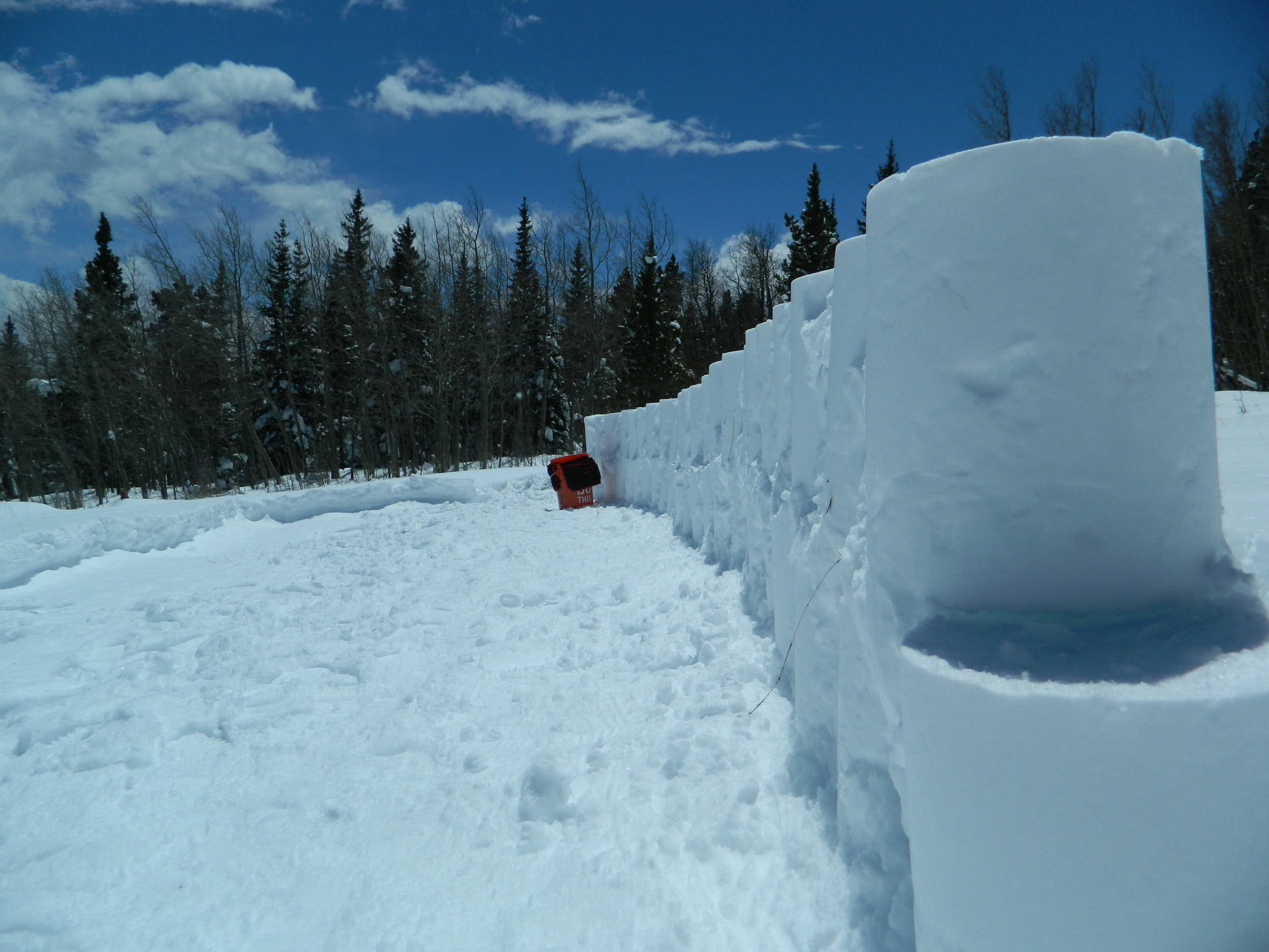 What I was able to construct yesterday using snow and my bucket.