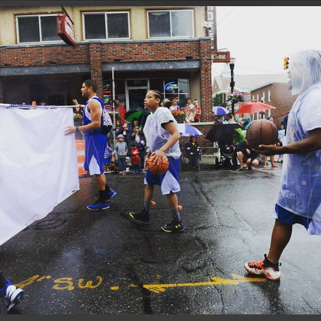 #historyinthemaking  #ballislife #cjpb #parade #firstever #centerjumpproball