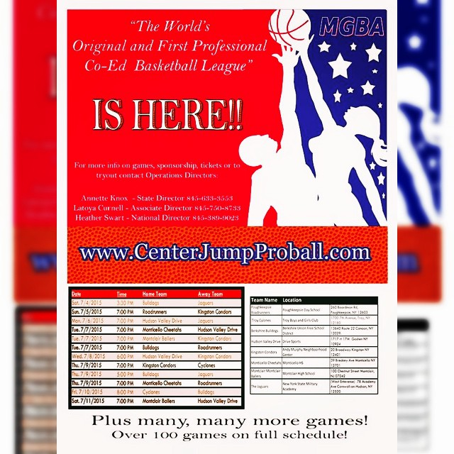 It's here! #cjpb #ballislife #co-ed #basketball #tipoff #historyinthemaking #centerjumpproball