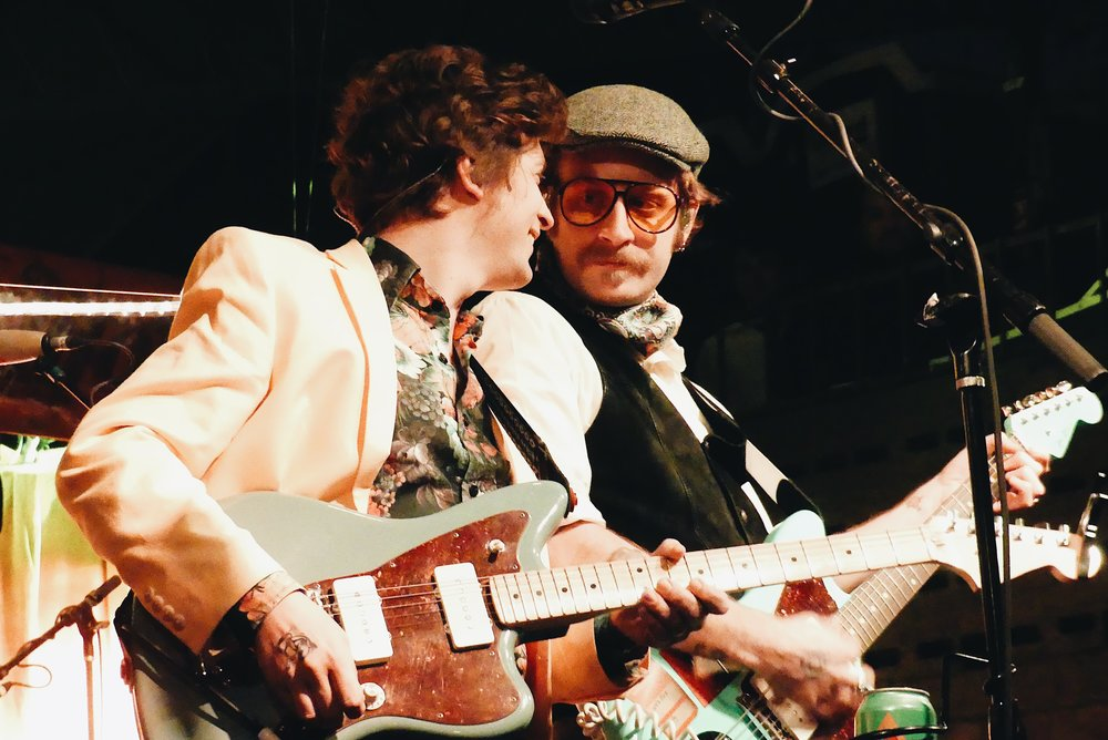 Left to Right: Guitarist Ian O'Neil & Singer John J. McCauley of Deer Tick