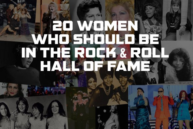 Women are vastly underrepresented among the Hall of Fame's inductees. (Image source:  http://ultimateclassicrock.com/women-who-should-be-in-rock-hall/)