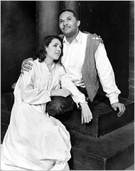 Baritone Robert Todd Duncan (1908-98), pictured here with actress Anne Brown, originated the role of Porgy in Porgy & Bess.