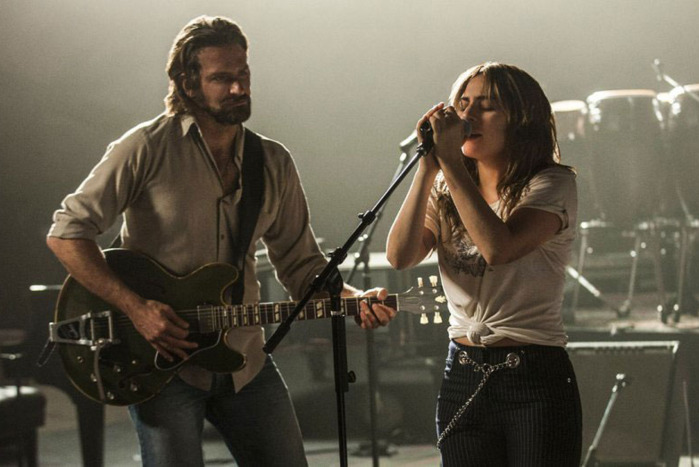 Bradley Cooper and Lady Gaga make music together in 2018's remake of  A Star is Born .