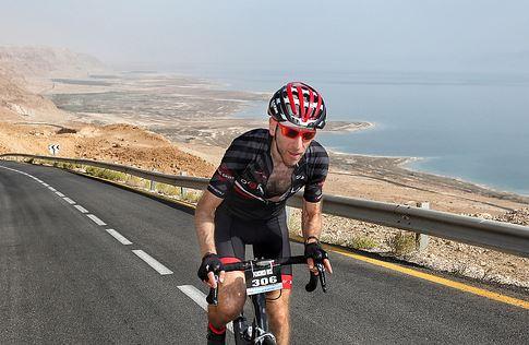 Climbing from the Dead Sea - 5 KM, 12% Grade, 37 Celcius