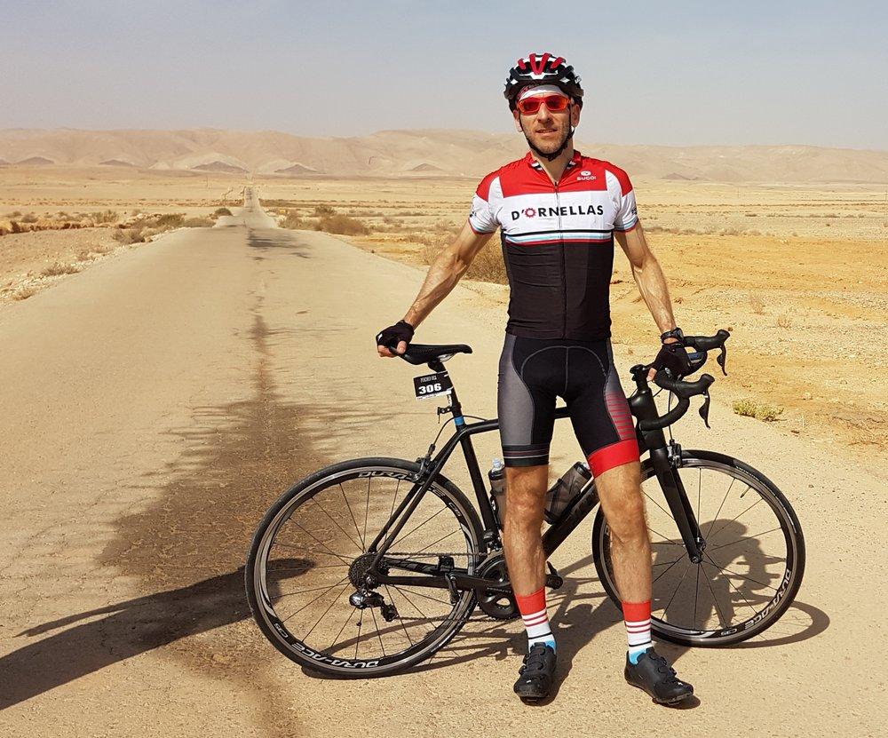 Taking a break in the Negev Desert