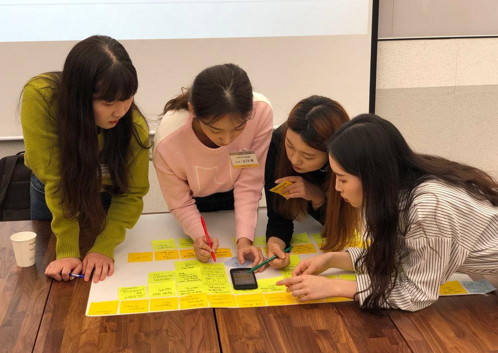 4. KB금융 D.N.A 프로젝트 워크샵 진행 (위디엑스 코랩 Co:Lab) :  https://www.wedesignx.com/news/20180405-6-kb-appsdesign-workshop