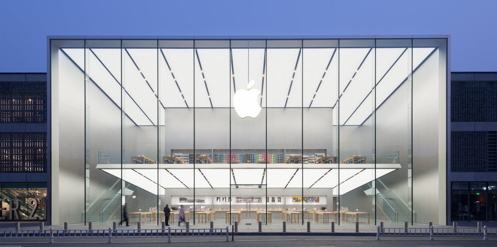 애플 광저우 매장 전경 (이미지 출처 : https://www.fosterandpartners.com/projects/apple-westlake-hangzhou/)