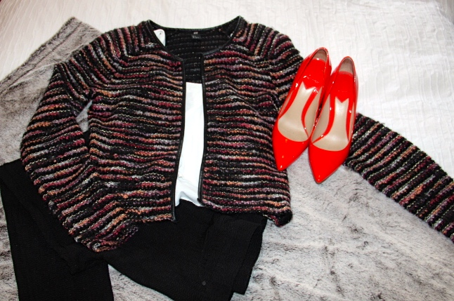 Jacket - H&M / Shoes - Brian Atwood (purchased on Gilt!)