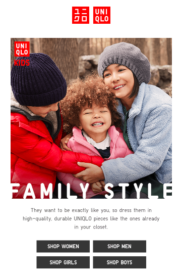 UNIQLO_Email_Family