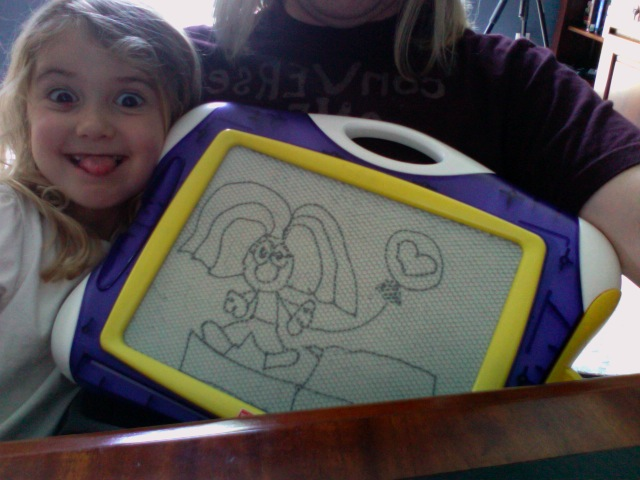 Drawing of Daddy by Sydney (age 4)