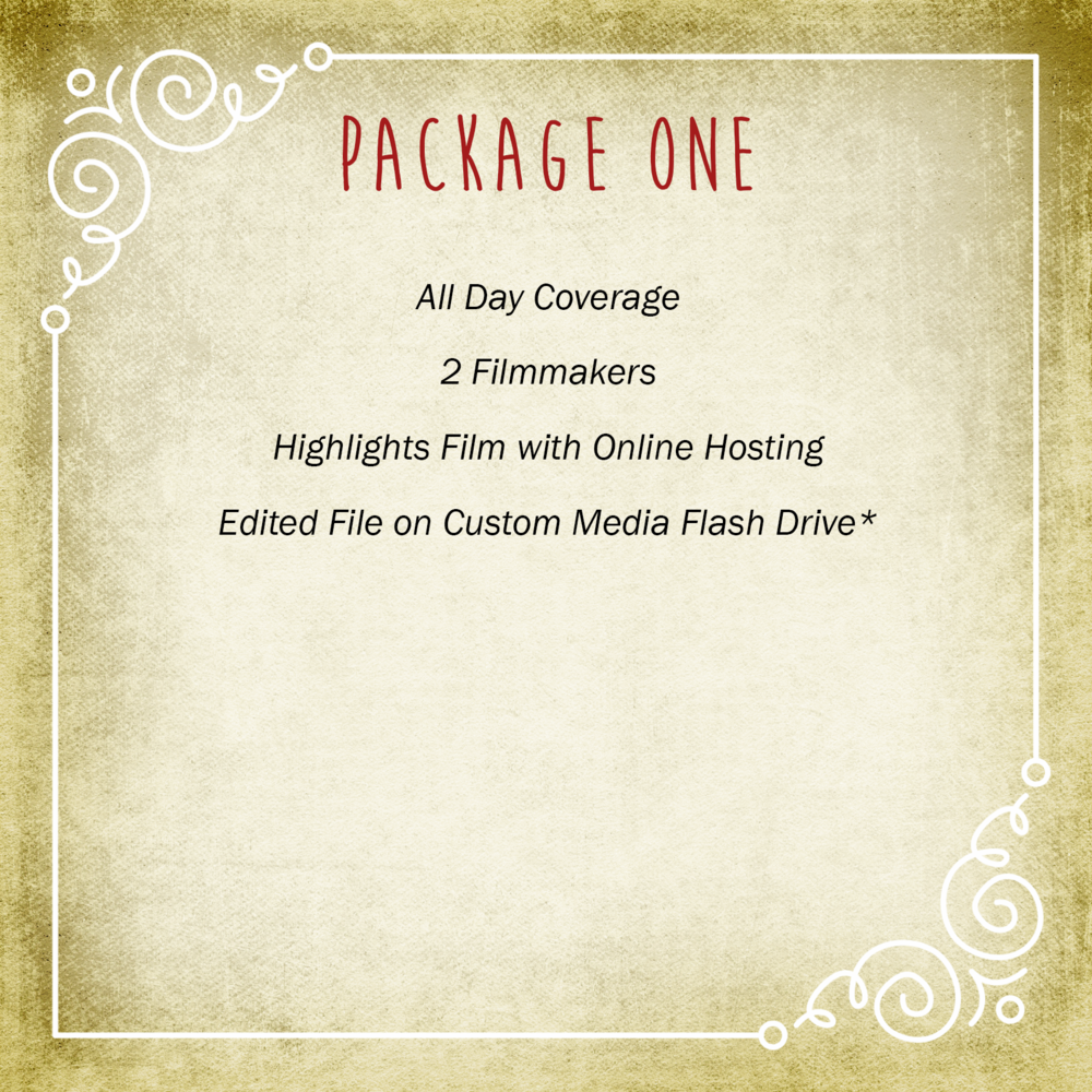Video Package One | Vimage Weddings