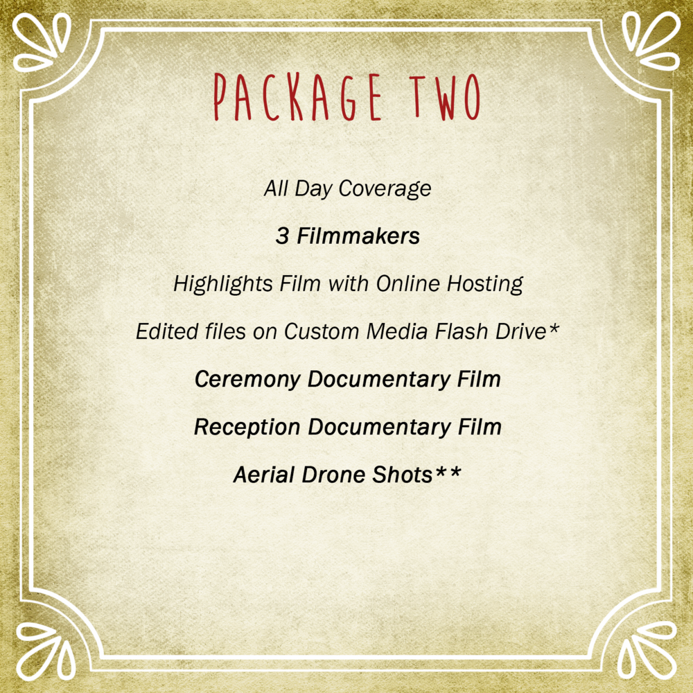 Video Package Two | Vimage Weddings