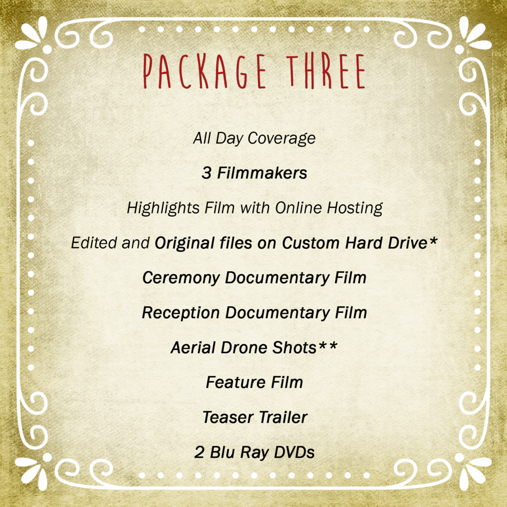 Video Package Three | Vimage Weddings