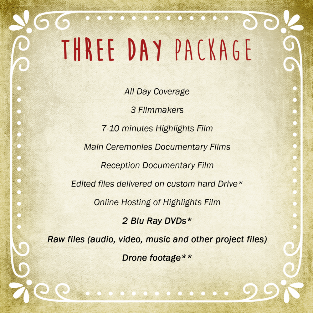 Three Day Package | Vimage Weddings