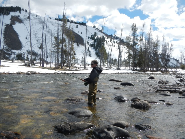 Searching for steelhead on the famous Salmon River.