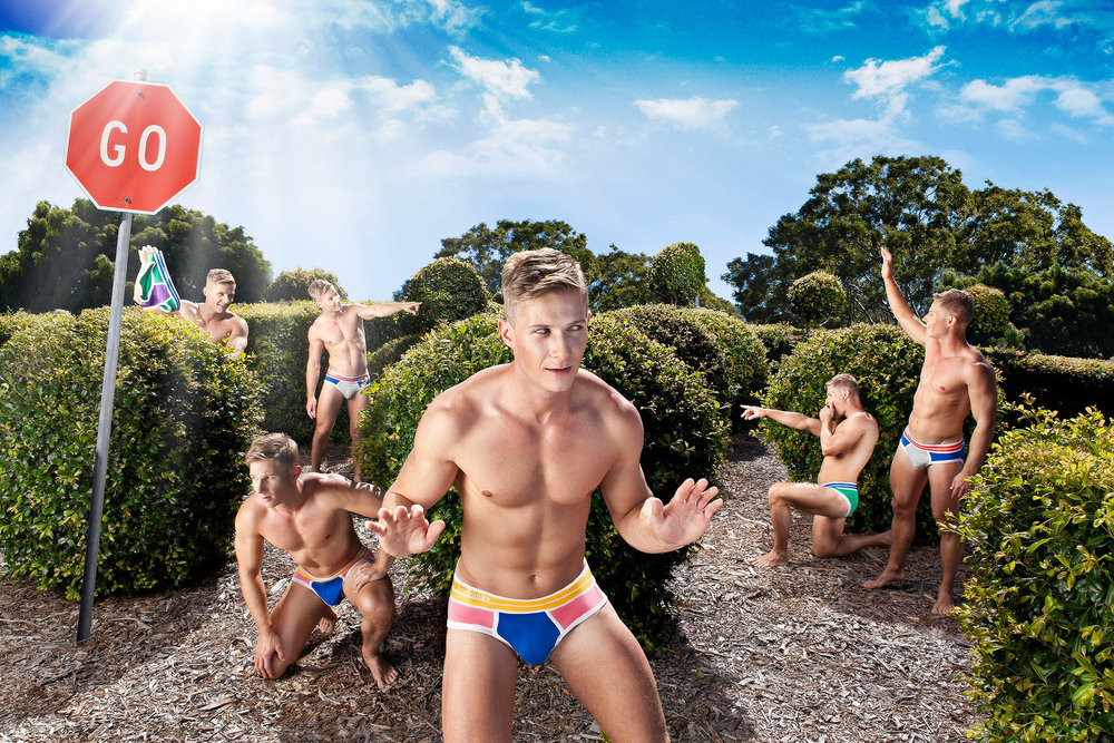'Hey Franky' Underwear brand launch promotional photography.