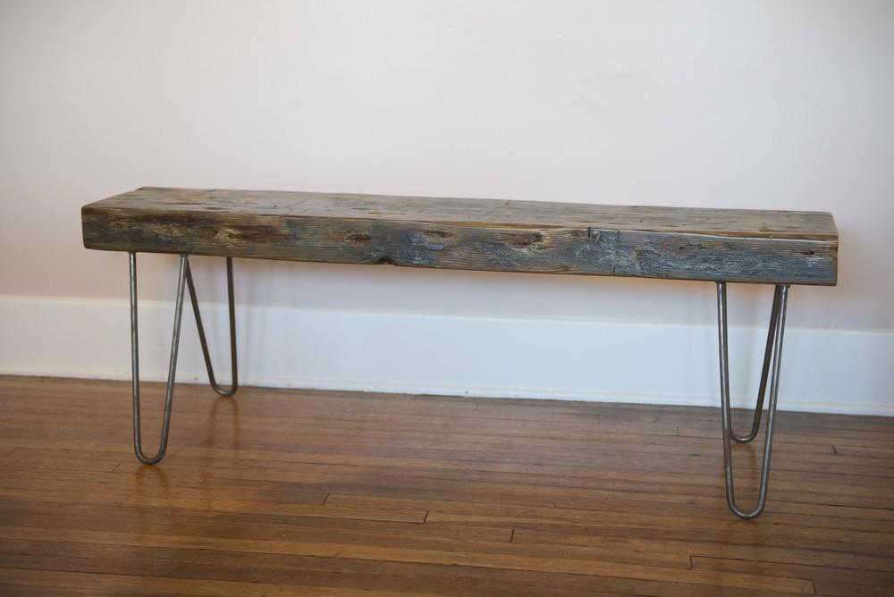 Reclaimed Marine Wood Bench