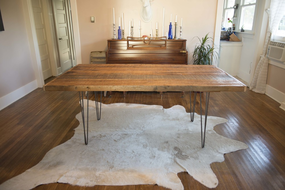 Reclaimed Plank Dining Table