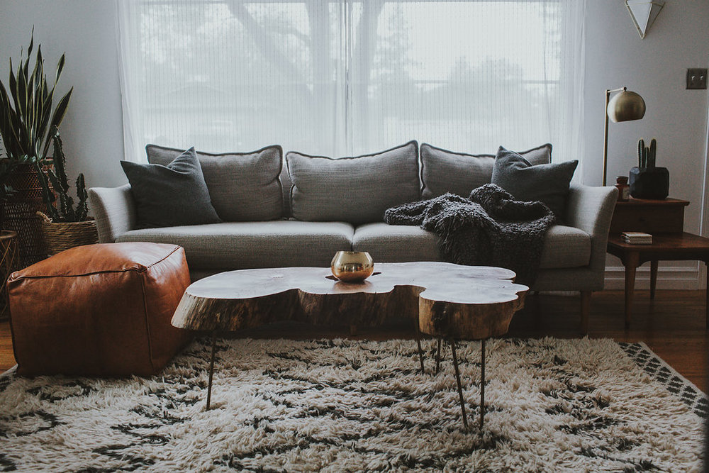 portland home, home design, interior design, mid-century modern, arbor and co, home staging, west elm, living room ideas